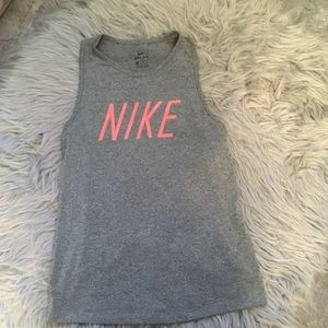 Nike dri fit gray tank top